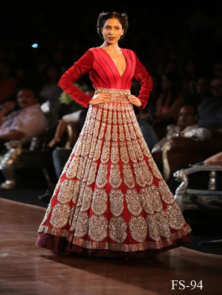 lehenga style long gowns - Google Search