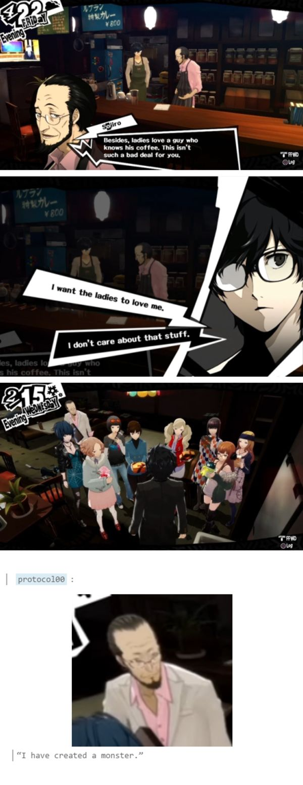 Persona 5 all the girlfriends Valentines.