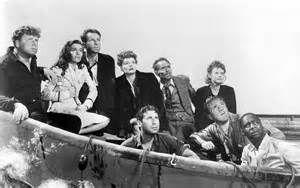 "Lifeboat (1944) Starring Tallulah Bankhead as Constance ""Connie"" Porter, William Bendix as Gus Smith, Walter Slezak as Kapitan Willi, Mary Anderson as Alice MacKenzie, John Hodiak as John Kovac, Henry Hull as Charles J. ""Ritt"" Rittenhouse, Jr., Hume Cronyn as Stanley ""Sparks"" Garrett, Canada Lee as Joe Spencer and Heather Angel as Mrs. Higley."