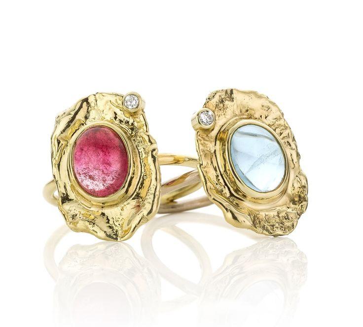Roze toermalijn & diamant