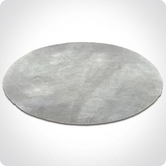 tapis rond gris clair - Tapis Rond Color