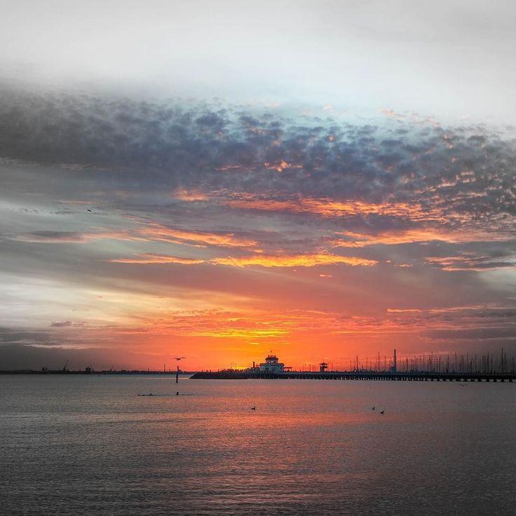 another beautiful #sunset #stkilda #melbourne #beach #ocean #orange #stunning #australia #lifeisbeautiful #instagood #travel #wanderlust #mylifeisajourney by zimbo.ansgar30
