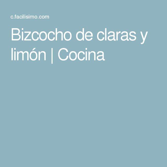 Bizcocho de claras y limón | Cocina