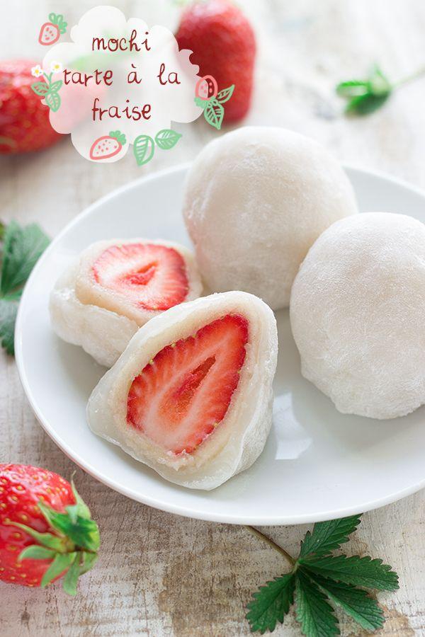 Mochi daifuku façon tarte à la fraise | Cuisine en Bandoulière