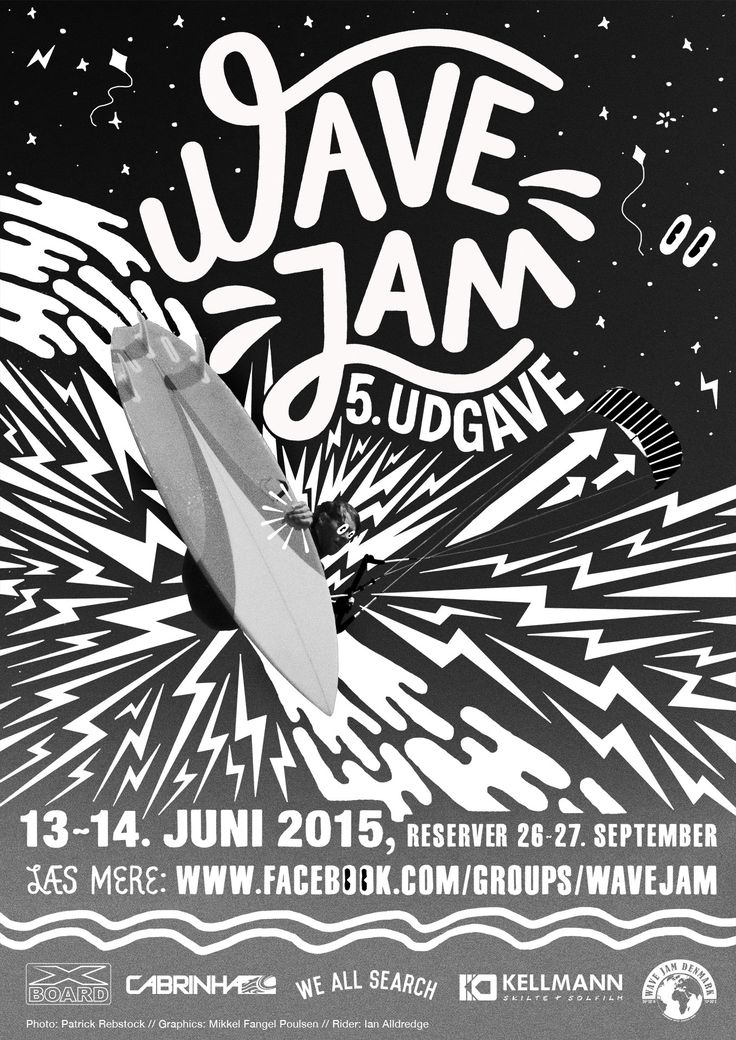 We have had the pleasure of making the poster for this years Wave Jam.