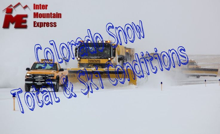 The Latest Colorado Snow Totals & Ski Conditions COLORADO SNOW REPORT Last Updated: 03/28/201 Hurry to enjoy the new powdered snow in Ski Resorts Colorado  To all lovers of skiing, as we said, that we launch a weekly survey of the weather at the ski resorts of Colorado. Also you can find data about the newly fallen snow on the base and at the top of the mountain, data in online mode are collected from the ski resorts of Colorado.