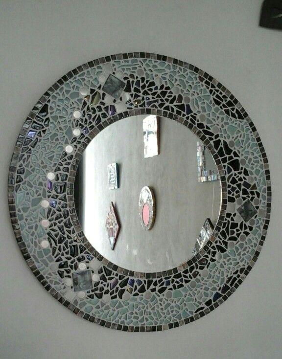 Espejo mosaico redondo  70 cm. Diámetro