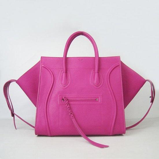 I want this bag in black or red!!....Celine Boston Tote Bag Pink Cline Square Calfskin Pink Handbag [Celine-056] - €230.00