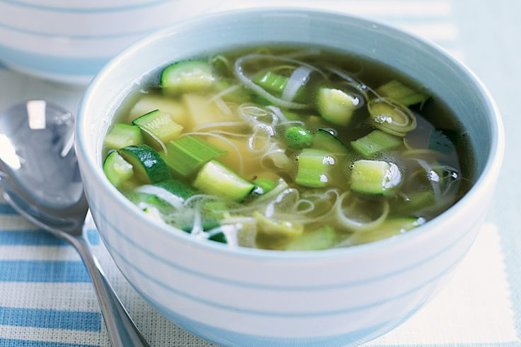Let the kids throw these healthy vegies into a big saucepan and enjoy the fun of stirring this yummy chunky soup full of green and white goodness.