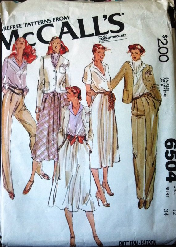 McCalls 6504 Carefree Pattern for jacket by VictorianWardrobe, $5.00