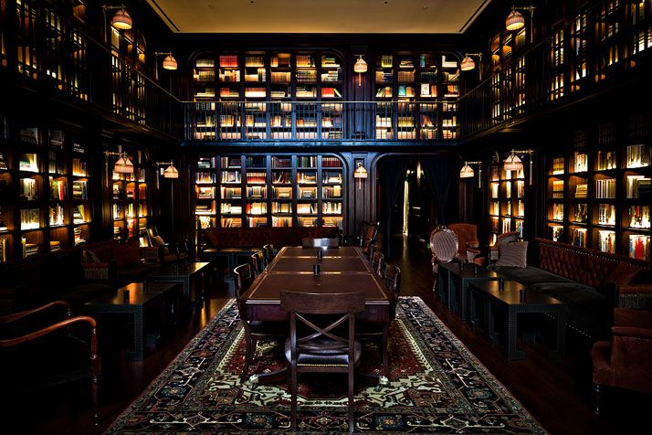 The NoMad Hotel by Jacques Garcia in New York gets it right #1 -- library in the common space