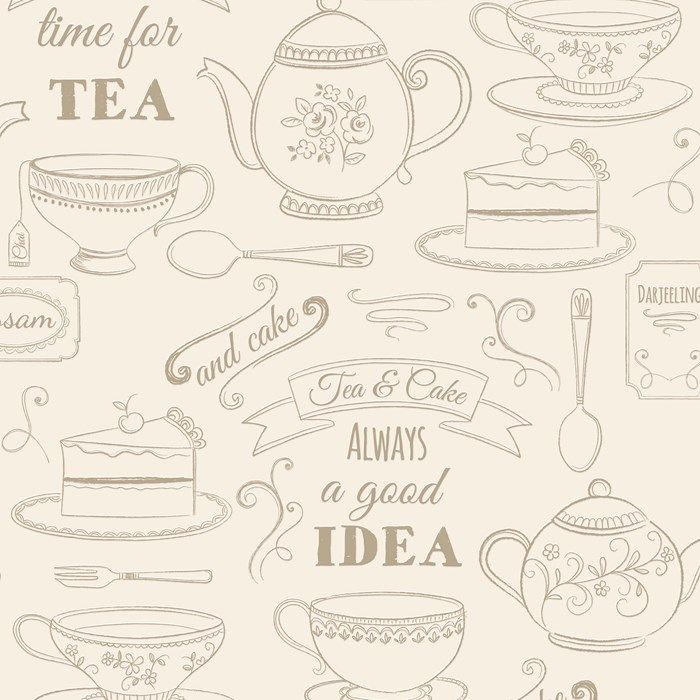 Afternoon Tea Cream Wallpaper by Graham and Brown