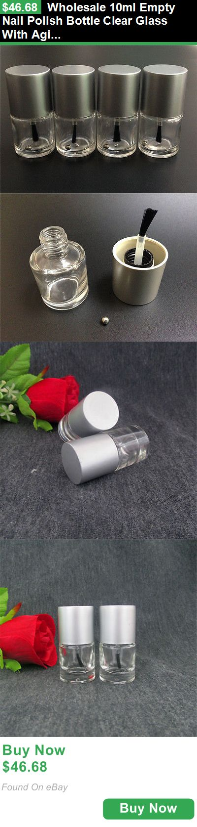 Storage and Empty Containers 107965: Wholesale 10Ml Empty Nail Polish Bottle Clear Glass With Agitator Mixing Balls BUY IT NOW ONLY: $46.68