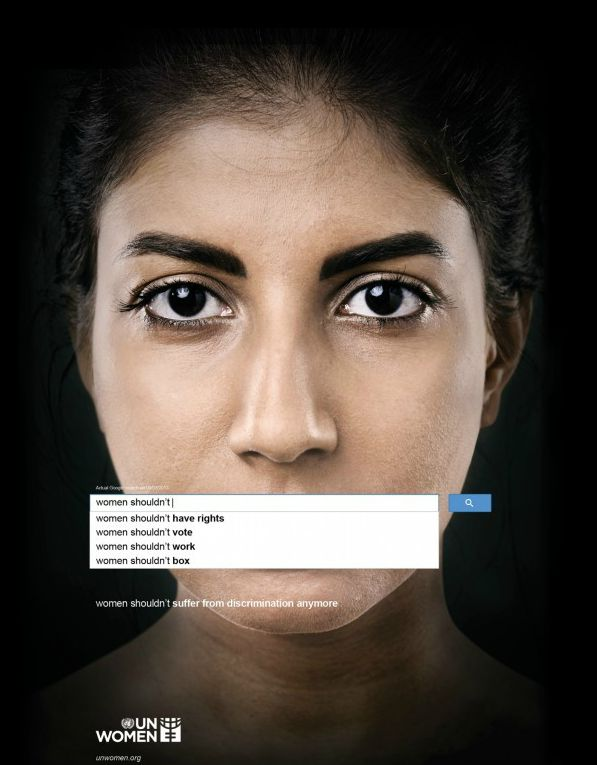 #WomensDay #Discrimination #Women #Google #ad Women shouldn't suffer from discrimination anymore. United Nations Women - Memac Ogilvy & Mather
