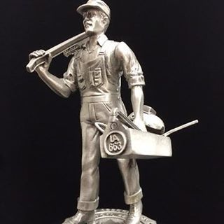 This is one of our most unique pewter sculptures. It's cast in eight pieces and…