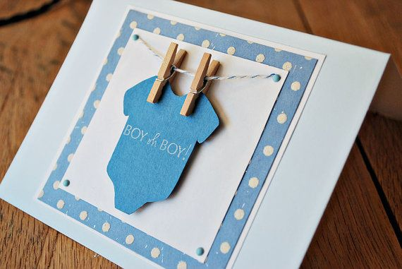 Cute DIY shower invite, birth announcement, etc.