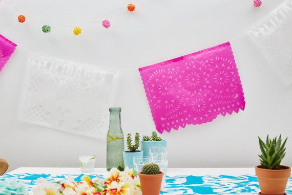 Mexican Paper Bunting For Weddings and Fiestas  by WeAreChilpa
