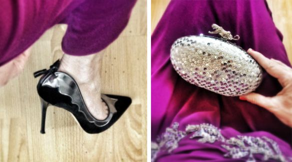 my fab Gianvito Rossi heels & Aftershock London clutch
