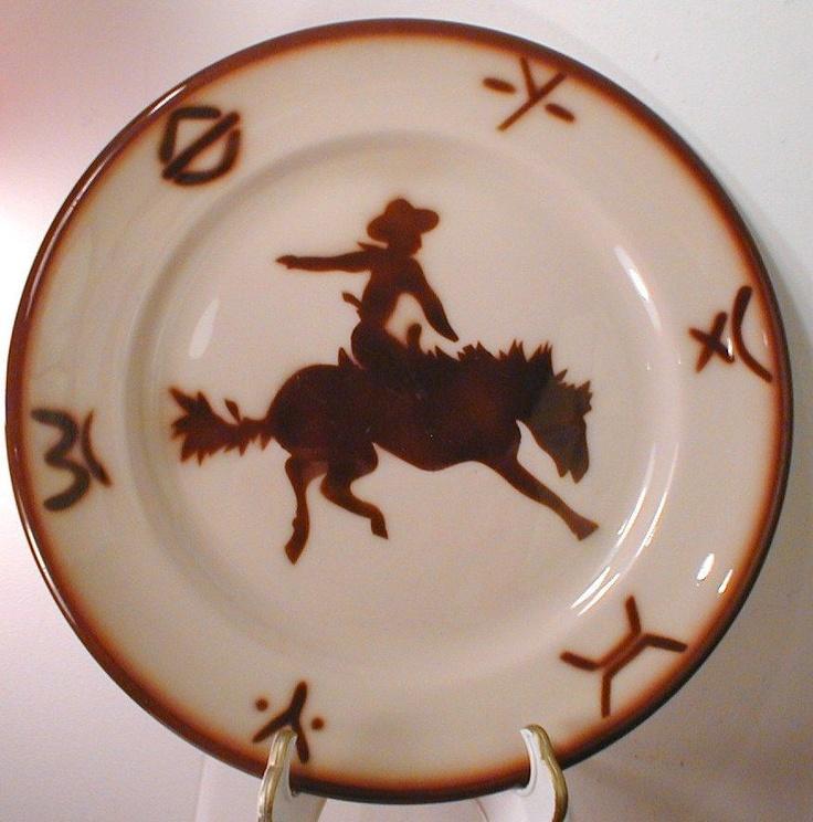 Cowboy \u0026 Bronc vintage dishes \u003c\u003e (wild wild west western restaurant ware & 42 best Wallace western dishes images on Pinterest   Dinner ware ...