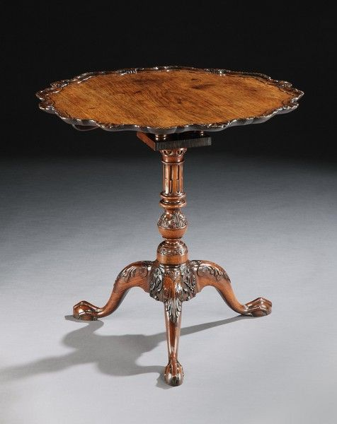 A GEORGE II ANGLO-CHINESE ROSEWOOD TRIPOD TABLE (4456041) : The British Antique Dealers' Association