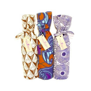 Wine bottle bags and so much more!  All made by african woman.