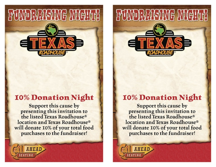 Safety Patrol Fundraiser Texas Roadhouse December 19th