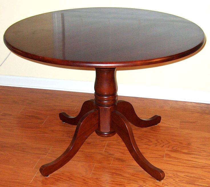 CHARMED TV SHOW PROPS HALLIWELL MANOR CHERRY FINISH ROUND PEDESTAL BASE TABLE #Props