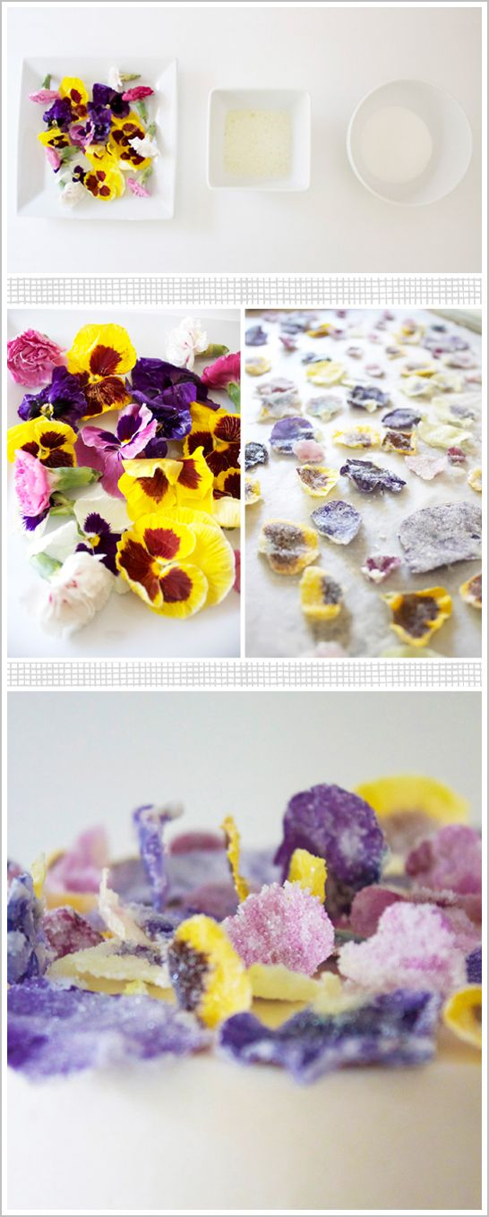 DIY Glittering Sugar Coated Flowers | TheCakeBlog.com