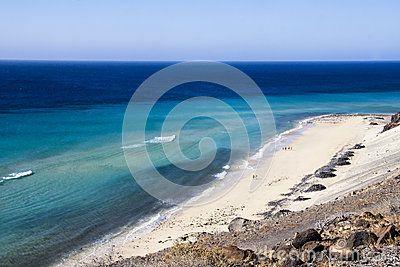 Colors of this sandy beach in Fuerteventura
