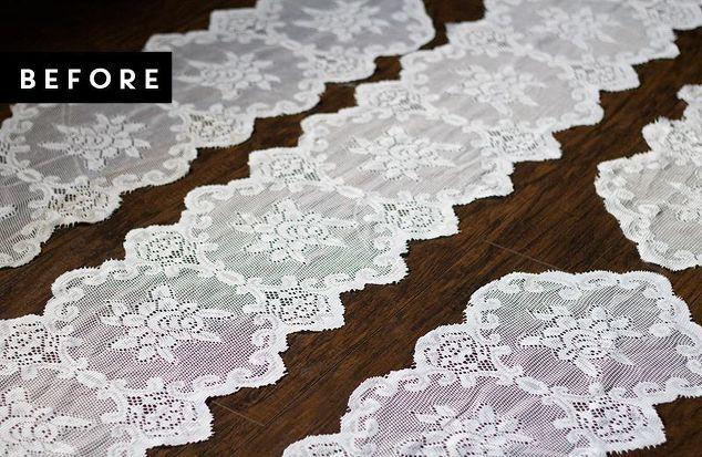 cortinas DIY rendas de caminhos de mesa, idéias quarto, artesanato, reaproveitamento upcycling, reupholster, tratamentos de janela