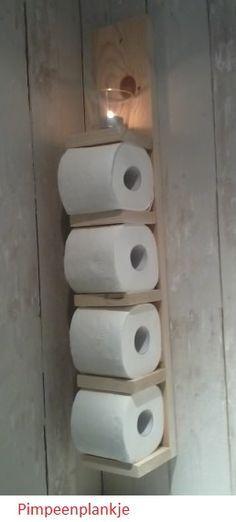 Stoere houder voor 4 wc rollen