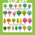 "This tree clip art set includes 26 graphics. Great for nature themed projects.  Image Size (pls see pic with numbers) no. 1: approx.5 X 7"" (300 dpi..."