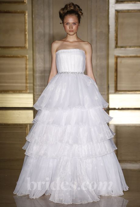 Douglas Hannant - Fall 2013. Wedding Dress with Embellished Waist: Douglas HannantGown by Douglas HannantSee more Douglas Hannant wedding dresses in our gallery.Photo:  George Chinsee