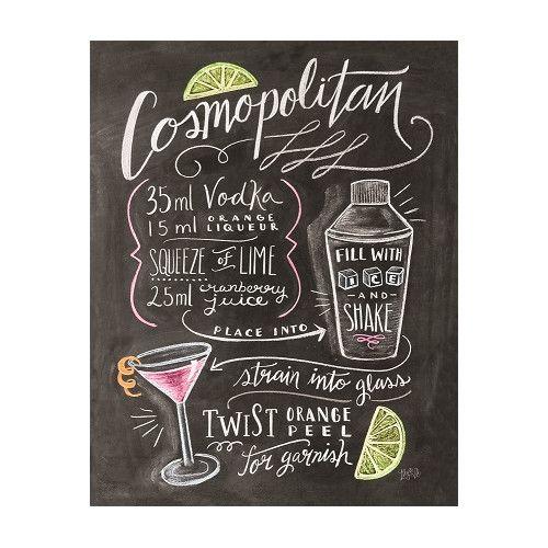 """Gefunden bei Wayfair.de - Poster """"Classic Cocktails Fancy Cocktail"""" von Lily and Val, Retro-Werbung"""