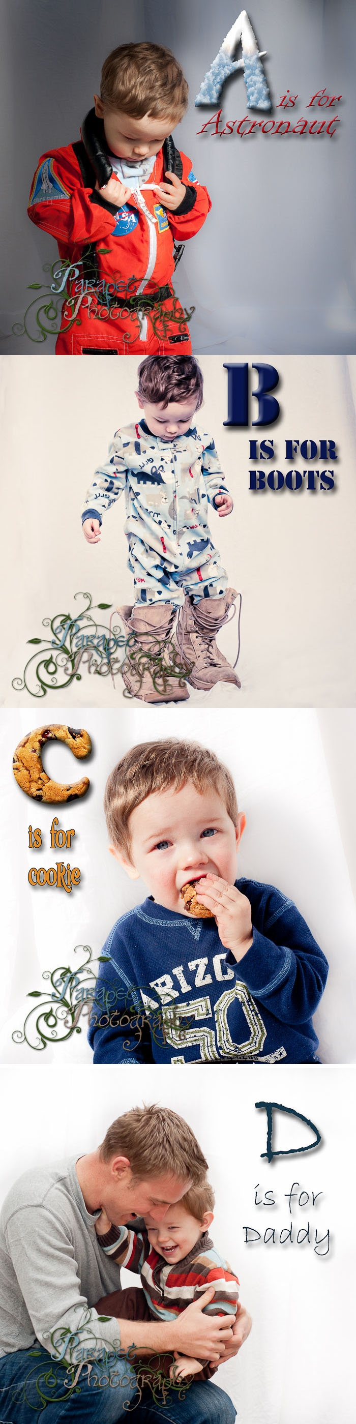 A basic guide on how to do a children's alphabet book themed photoshoot.