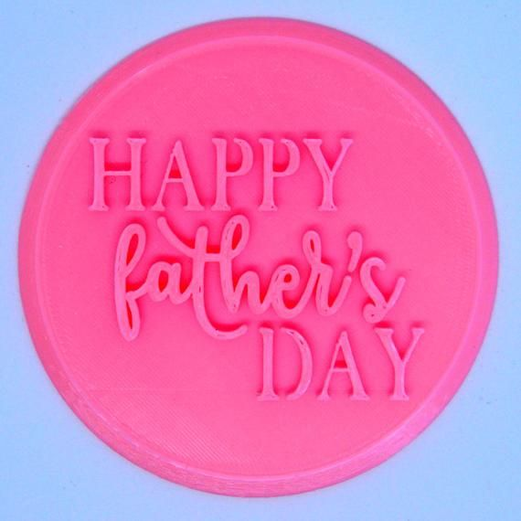 Happy Father S Day Cupcake Embosser Fondant Stamp Father S Day Cookie Stamp In 2020 Fathers Day Cupcakes Happy Fathers Day Cookie Stamps