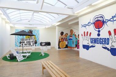 BELL invites, 2016. Stedelijk Museum Bureau Amsterdam. Installation view. Photograph Ernst van Deursen.  Review, Eyeline contemporary visual arts, issue 85.