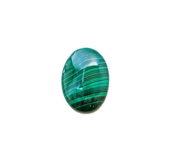 Malachite oval cabochon 26.50 carat by SARAHHUGHESfinegems on Etsy