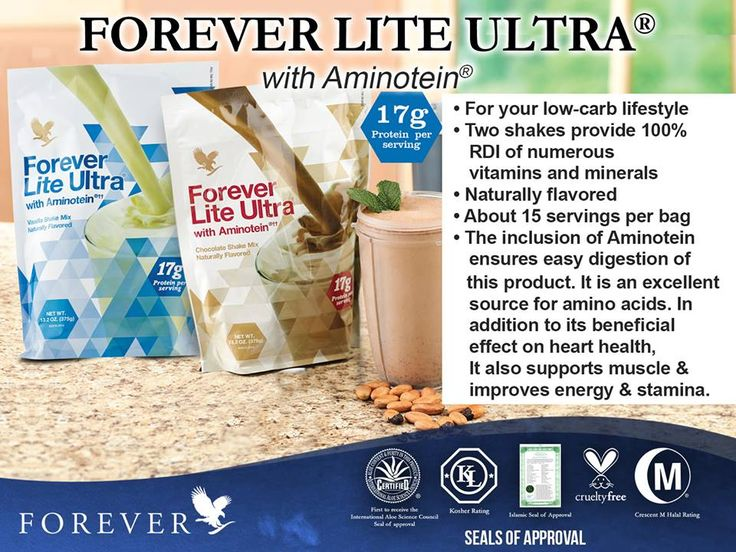 Forever Ultra Lite with Aminotein will make your Clean9 days complete but never boring.