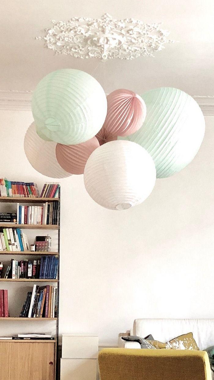 Lampions pour un plafonnier en décoration de salon ou de chambre ...