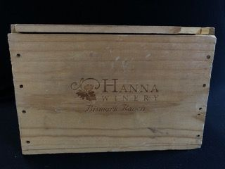 HANNA WINERY WOODEN WINE CRATE