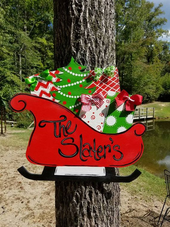 Check out this item in my Etsy shop https://www.etsy.com/listing/250779792/sleigh-door-hanger-christmas-door-hanger