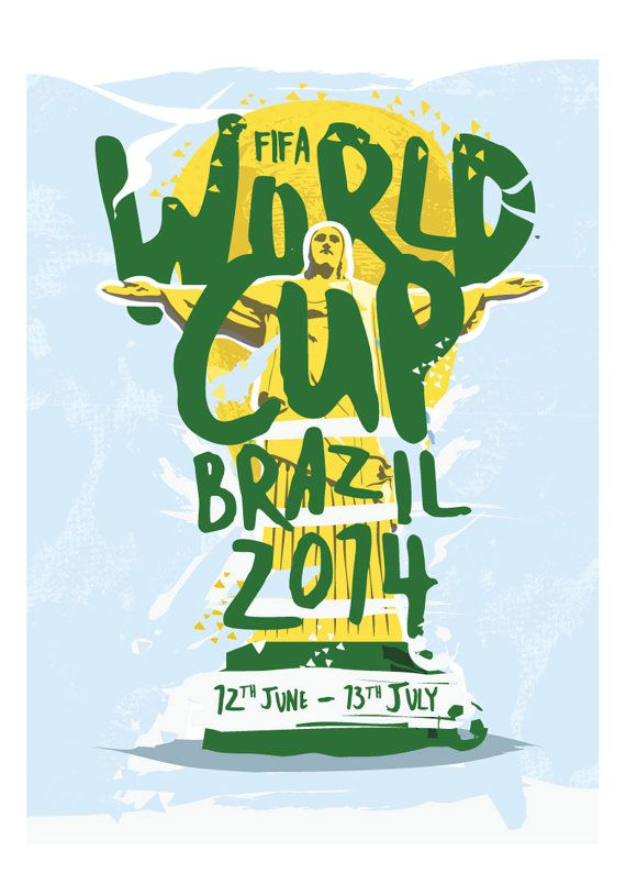 FIFA #WorldCup 2014 Print by KieranCarrollDesign #Brasil2014