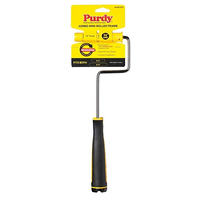 Amazon Com Purdy 14a770014 Jumbo Mini Roller Frame 12 Inch X 3 4 Inch Home Improvement In 2020 Paint Roller How To Paint Behind A Toilet Purdy