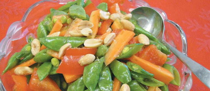 """WP 4 CHILI: THAI Snow Pea (Sugar Snap) Salad; Quick Frozen DIVINITY Salad; Freezer COLESLAW; QUINOA Chickpea Salad; Vegetarian/Vegan Chickpea & Bean CHILI. """"Make-ahead dishes allow family time."""" Recipe. ~ The Western Producer"""