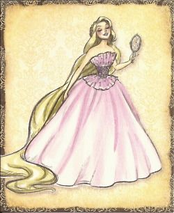 Disney Princesses - Disney Princess Designer Collection: Individual Concept Art & Note Card Scans