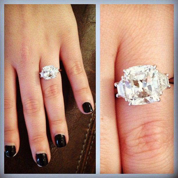 Cushion cut three stone engagement ring  Statigram – Instagram webviewer