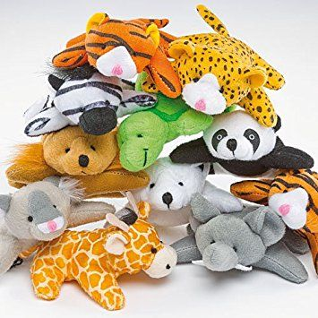 Soft Plush Mini Animal Bean Pals Party Bag Fillers Children's Toys Prizes - Pack of 10