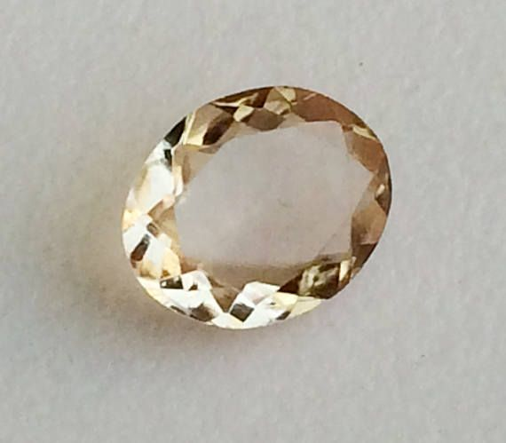 1 Pc 9.3x11mm Imperial Topaz Faceted Oval Cut Stone 2.80 Cts