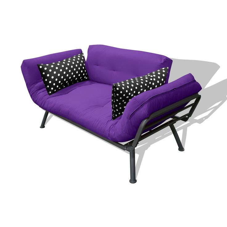 Have to have it. Mali Flex Combo Futon - Purple & Black Polka Dot - $273.98 @hayneedle.com